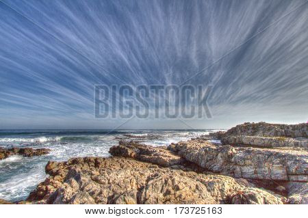 Interesting cloud formation on the Hermanus coastline