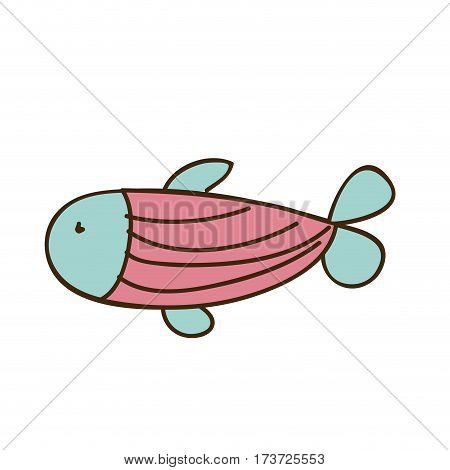 colorful fish icon stock, vector illustration design image