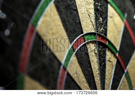 used steel dart board without any arrow