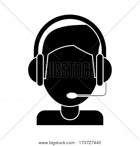 video gamer with headset pictogram vector illustration eps 10