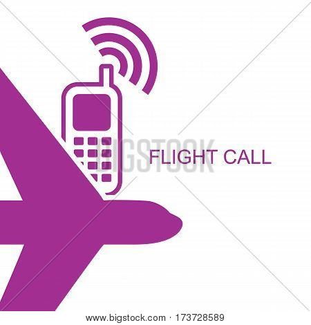 Flight time call simple flat style
