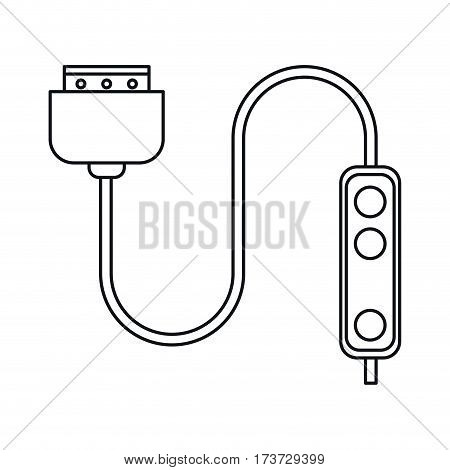 computer cable connection plug thin line vector illustration eps 10