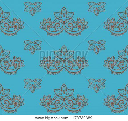 The retro semless blue pattern. Vector illustration