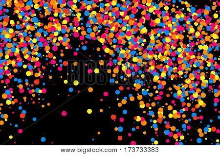 Colorful Explosion Of Confetti.  Colored Grainy Texture.