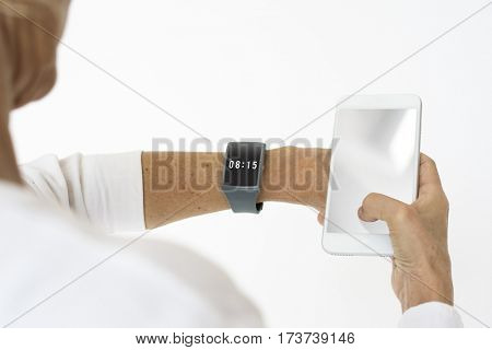 A Man With Watch Checking Time