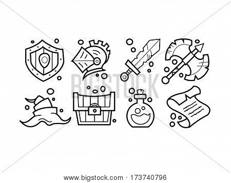 Simple Set of Magic Related Vector Icons for Your Design.