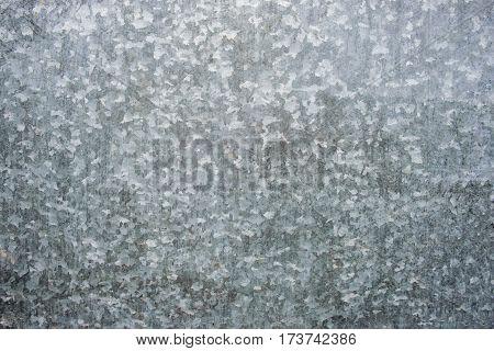 Zinc Galvanized Steel Surface