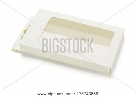 Empty Product Package Box Lying on White background