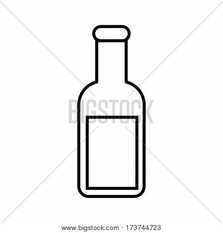 a simple thin line potion icon vector