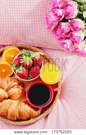 luxury breakfast in bed - good morning
