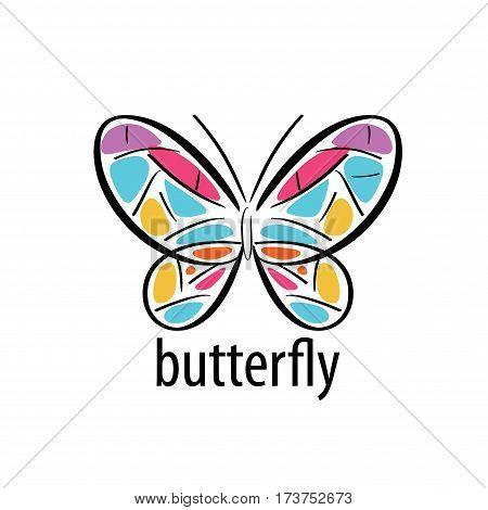 logo design pattern butterflies. Vector illustration icon