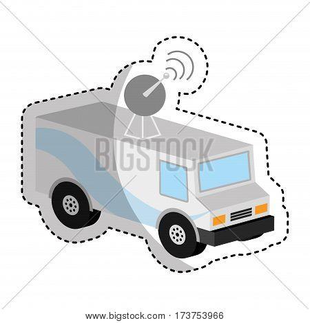 antena car isometric icon vector illustration design