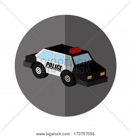 police patrol isometric icon vector illustration design