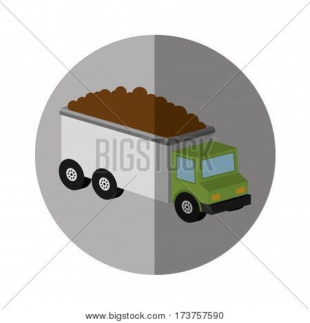 truck vehicle isometric icon vector illustration design