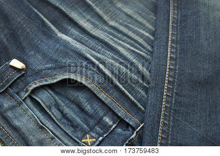 Rather Old Blue Jean Have Stripe Textures