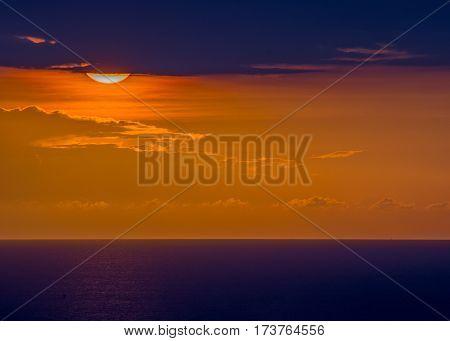 Sunset background image from the island nation of Haiti.