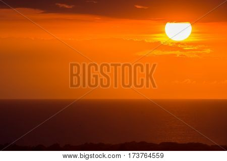 Sunset background image from the island nation of Haiti.