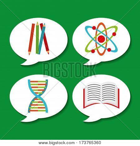 back to school set suplies vector illustration design