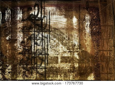 Abstraction, abstract brown grunge background. Brown grunge. Art. Grunge, grunge background.Surreal background. Surreal symbol. Abstract symbol.