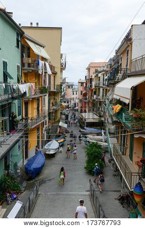 The Village Of Manarola On Cinque Terre, Italy