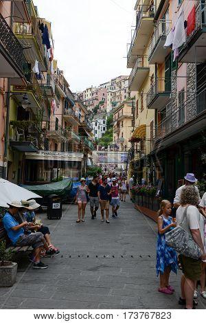 The Village Of Manarola On Cinque Terre, Italy