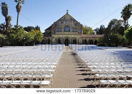 Mission church at Stanford University in California