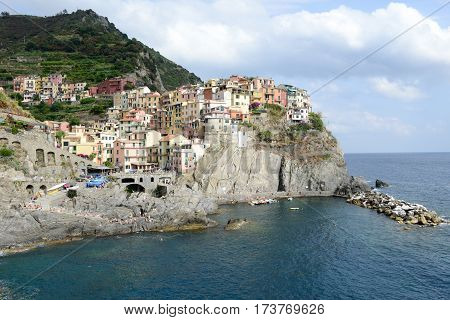 The Village Of Manarola On Cinque Terre