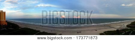 panoramic ocean view Myrtle Beach, South Carolina