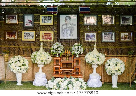 Samut Songkhram Thailand: February 4 2017 the people of Thailand were my bow in grace. His Majesty King Bhumibol Adulyadej Rama 9.