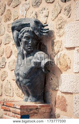 Male bust and torso in Toledo Spain