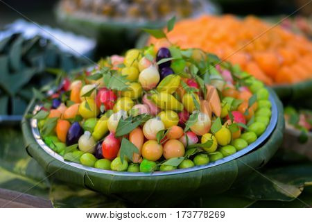 Dessert sweetmeat Thai Savory and delicious of thailand