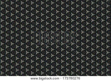 Chromatic dark chain ornaments abstract pattern background