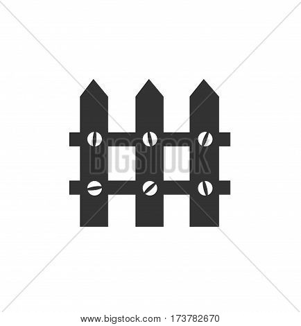 Black fence isolated on white background. fence vector stock.