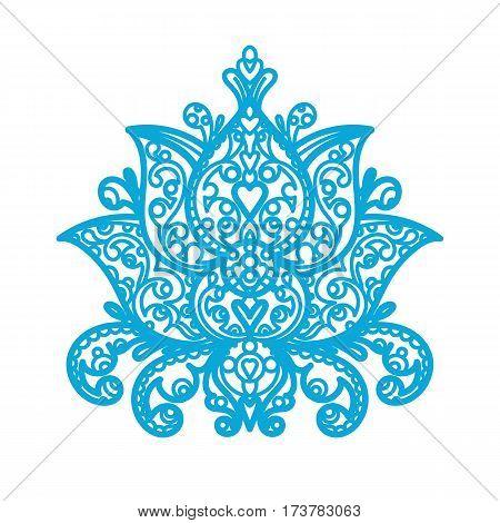 Lotus Ornament - wood laser cut maine made flower gardener gift buddha buddhism India near east symbols holiday Christmas decoration