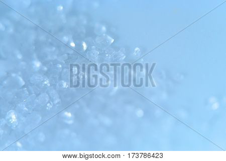 Pastel blue background with natural crystal texture and soft focused. Vintage and pastel colors.