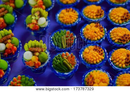small Food replica, small Food  background  abstract