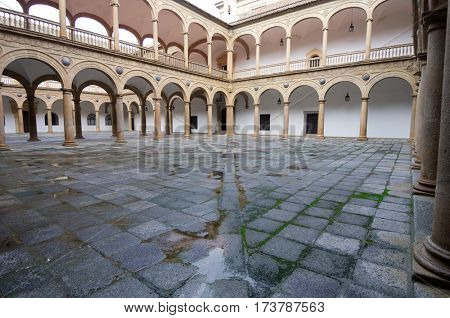 courtyard of the Hospital de Tavera, Toledo, Castilla La Mancha, Spain