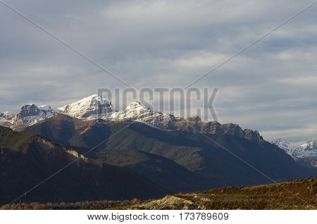 Partacua Mountains in Tena Valley, Pyrenees, Huesca, Aragon, Spain.