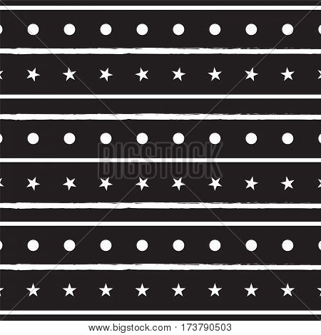 black and white line circle and star pattern background vector illustration image