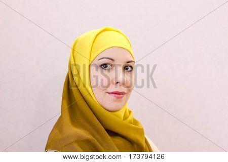 Beautiful Arabian Woman Fashion Arabic style, Hijab.
