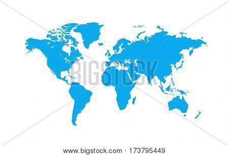 Political World Map vector Illustration eps 10