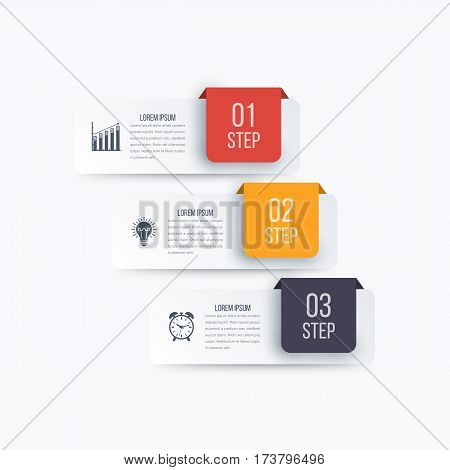 Vector illustration infographics 3 options. Stock vector