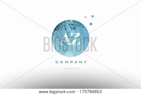 Az A Z  Watercolor Grunge Vintage Alphabet Letter Logo