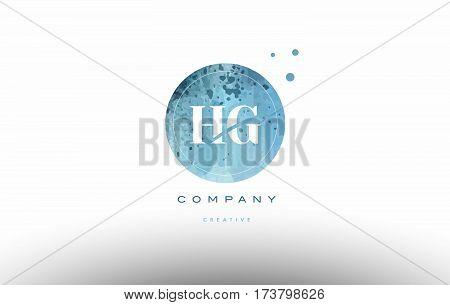 Hg H G  Watercolor Grunge Vintage Alphabet Letter Logo
