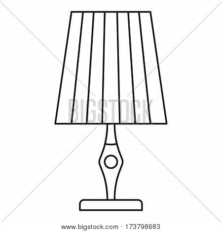 Vintage table lamp icon. Outline illustration of vintage table lamp vector icon for web