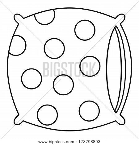 Pillow icon. Outline illustration of pillow vector icon for web