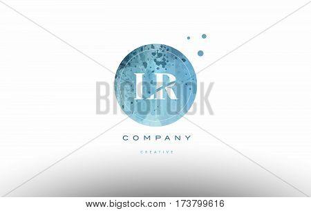 Lr L R  Watercolor Grunge Vintage Alphabet Letter Logo