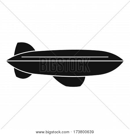 Blimp aircraft flying icon. Simple illustration of blimp aircraft flying vector icon for web