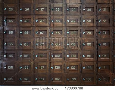 Old Wooden Post office boxes so classic