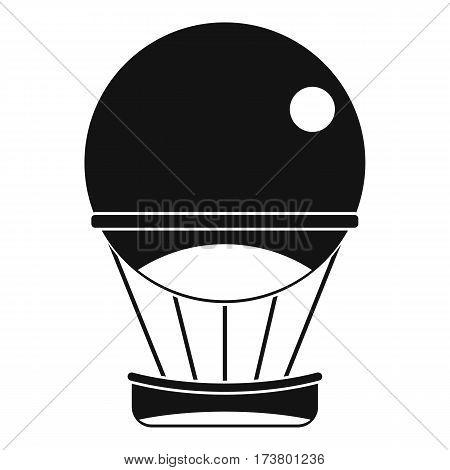 Aerostat balloon icon. Simple illustration of aerostat balloon vector icon for web